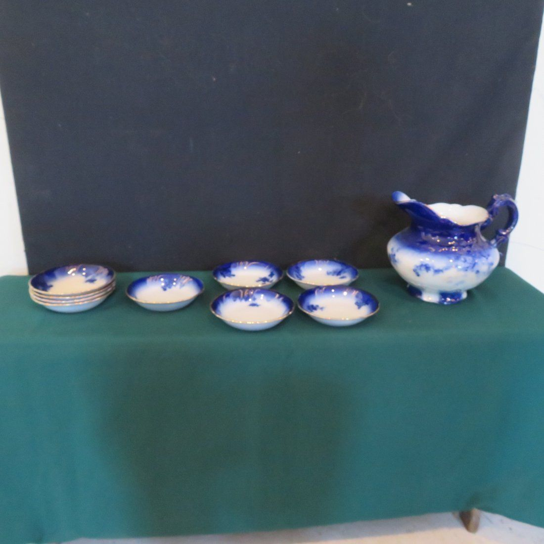 10 pieces of LaBelle flow blue china