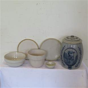 6 pieces of pottery
