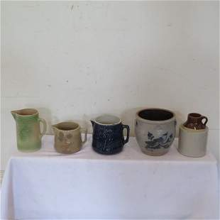 5 pieces of pottery