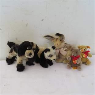 5 Steiff animals