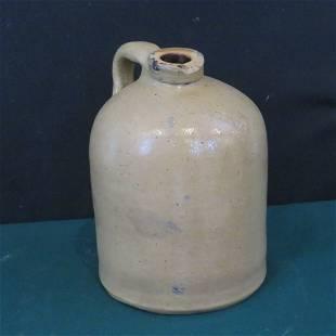 "1/2 gal. stoneware jug impressed ""ATTICA"", Indiana"