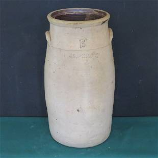 J.S. Perry stoneware 5 gal. churn, Putnam Co., Ind.