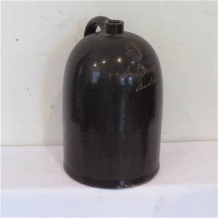 4 gal. stoneware Indiana scratch jug