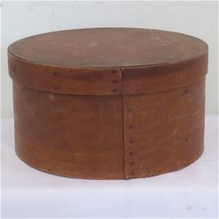 "Wood 9 3/4"" pantry box, signed"