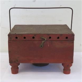 Wood and tin Shaker footwarmer