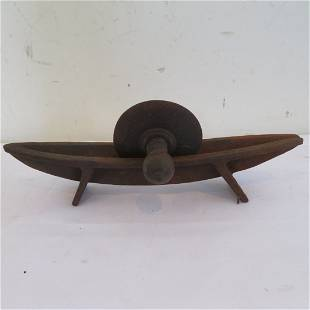 Wrought iron herb cutter-grinder