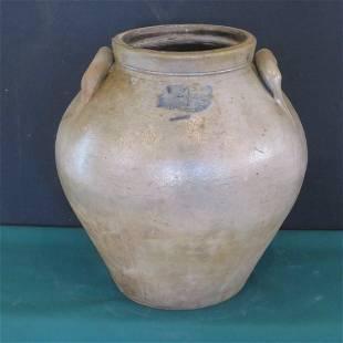 Ovoid 4 gal. stoneware jar, J. Bennage, Parke Co., IN