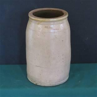 W.R. Torbert 3 gal. stoneware jar, Clay Co., Ind.