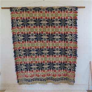 4 color Indiana 2 pc. coverlet by William Deeds
