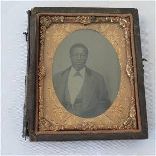 19th century Ambrotype of African- American man
