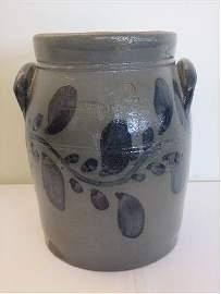 Stoneware blue decorated 2 gal. jar