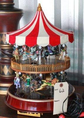 Mr Christmas Carousel.62 Mr Christmas Double Decker Carousel