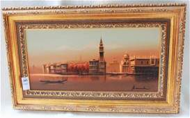 185 St Marks Square Venice oil on canvas painting