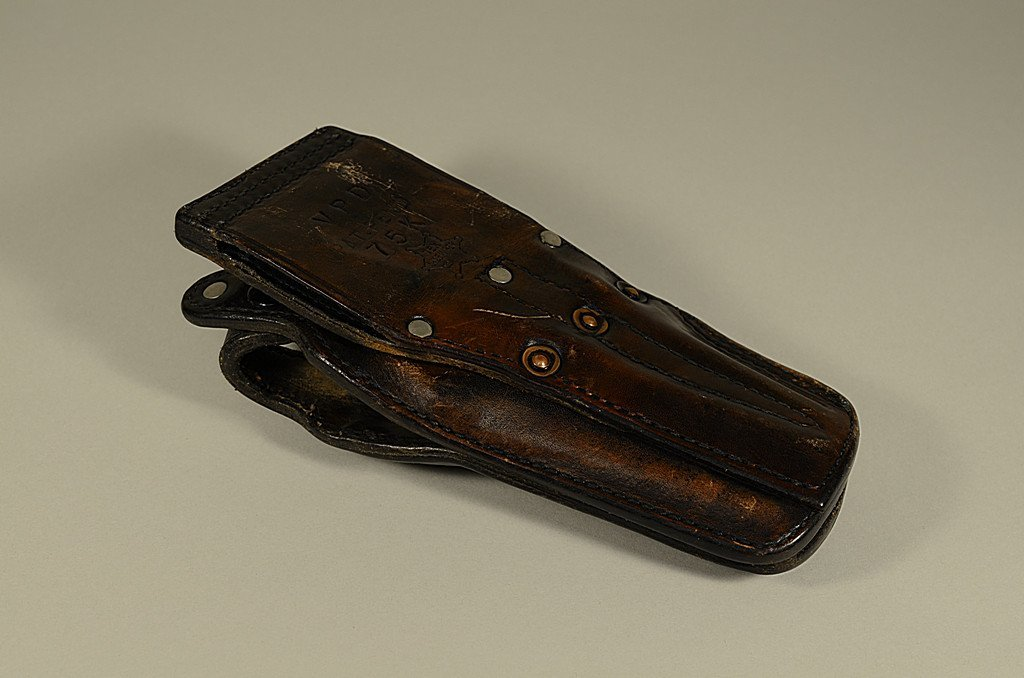 Leather Revolver Holster by TEX Shoemaker VPD 75k Pat - 2