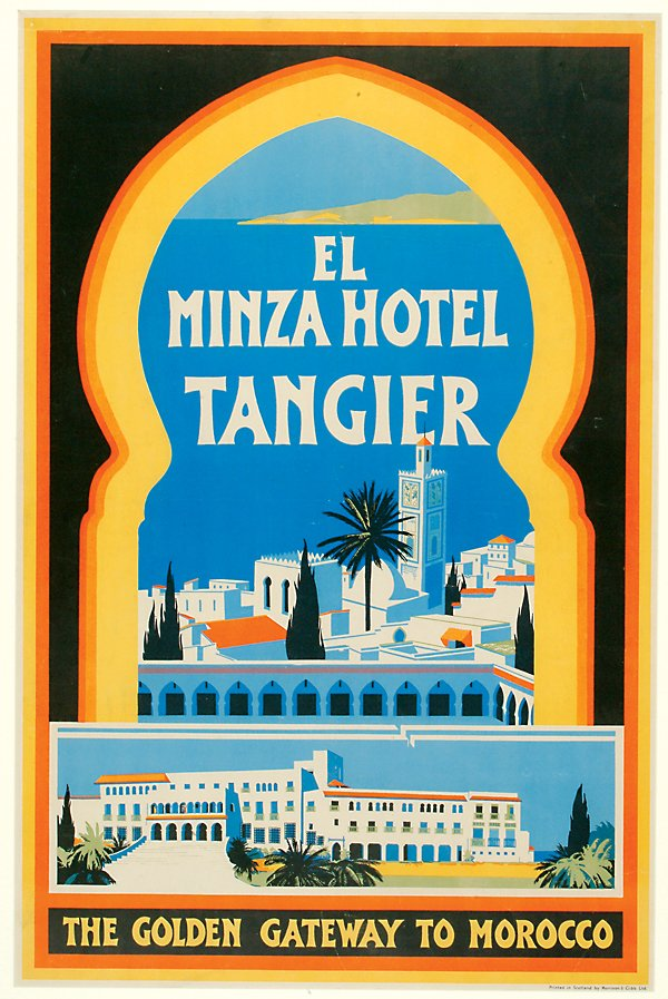 18: Posters El Minza Hotel Tangier, The Golden Gat