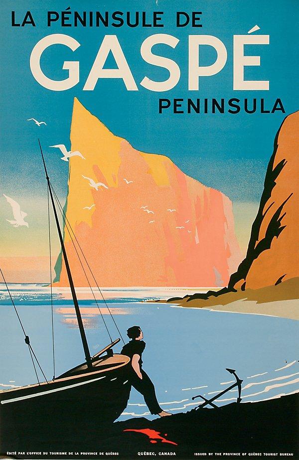 25: Posters La Peninsule De Gaspe Peninsula, Quebe
