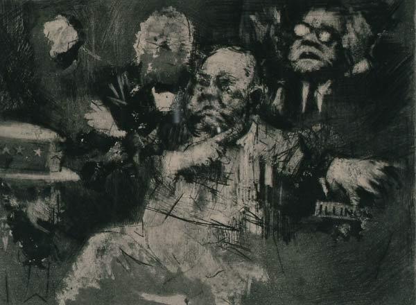 1014: Prints Jack Levine (1915- ), MAJOR DALEY