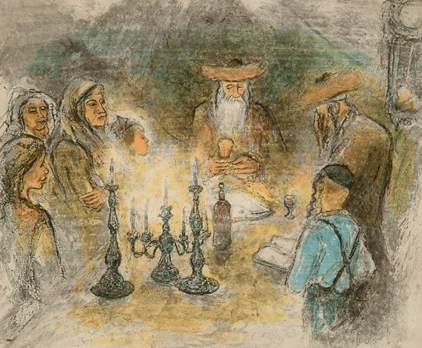 1019: Prints Ira Moskowitz (1912-), SABATH EVEN