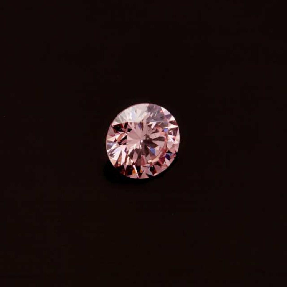 Unmounted Purplish-Pink Brilliant Cut Diamond
