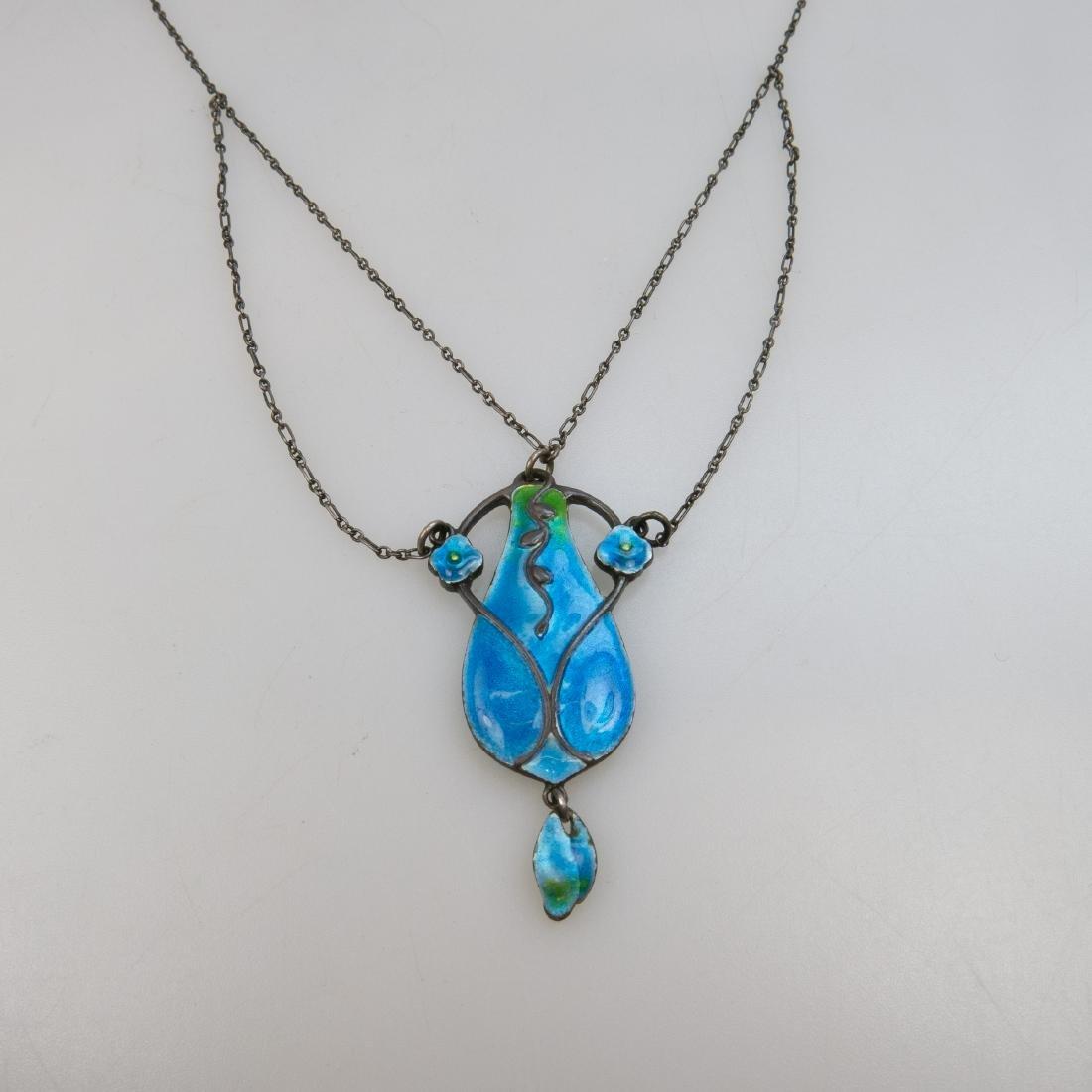Murrle Bennett 950 Grade Silver Arts & Crafts Pendant