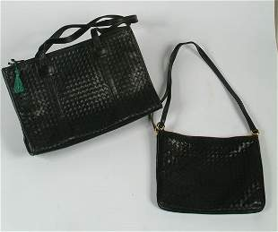 39: Fashion Woven Leather Day Bag and Pu