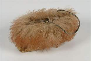 47b: Fashion Desmo Brocade Fur Purse, 6 x
