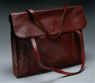 61: Fashion Cartier Leather Briefcase