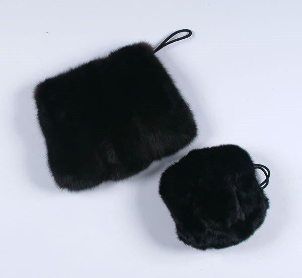 82: 82: Fashion Two Black Mink Muffs