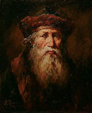 American Henry Raschen THE OLD TRAPPER