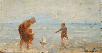 1207: Dutch J.B.de HoogTHE BEACH; Manner Troyon (2)