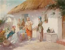 1309 Hungarian Agoston Acs WASH DAY