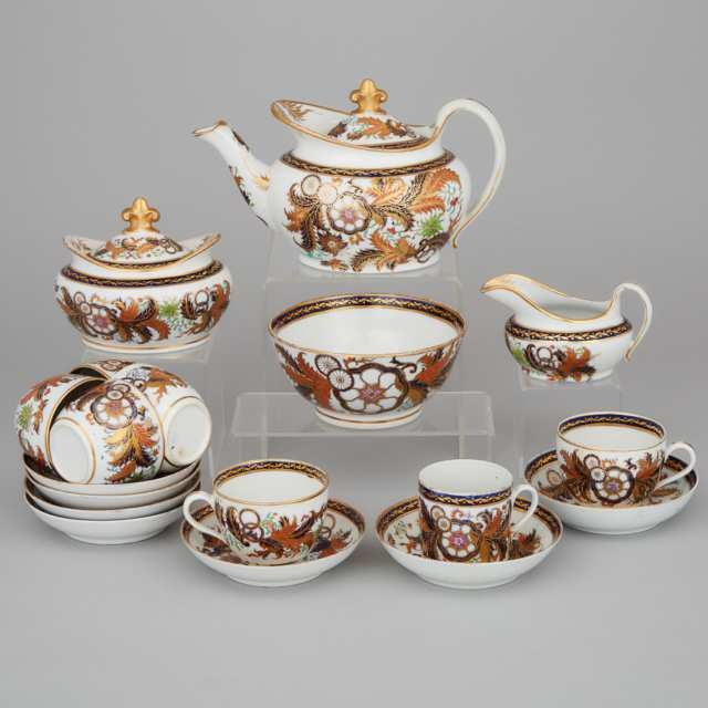 New Hall Japan Pattern Tea Service, c.1810
