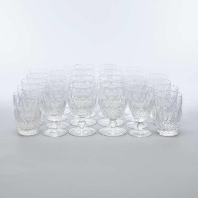 Waterford 'Colleen' Pattern Cut Glass Stemware, 20th