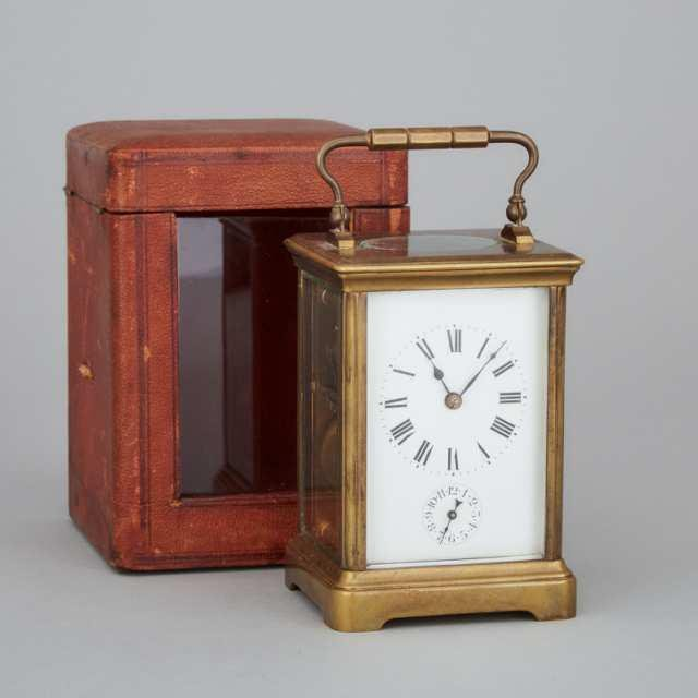 French Carriage Clock with Alarm, c.1900