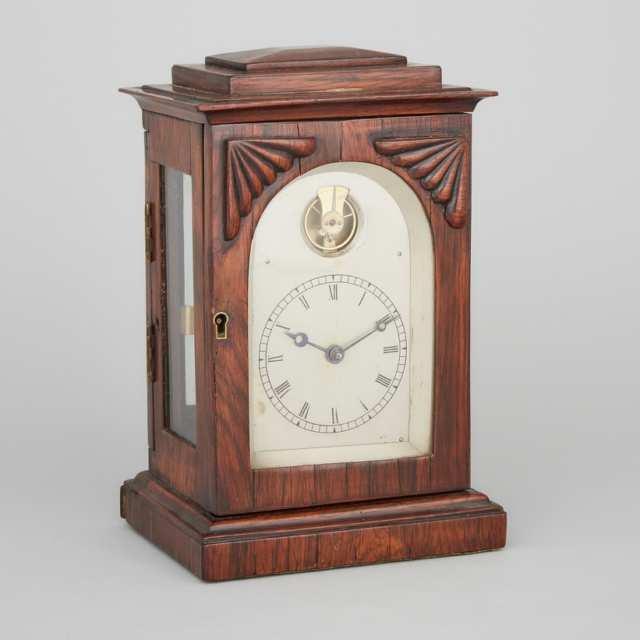 Small William IV Rosewood Bracket Clock, c.1840