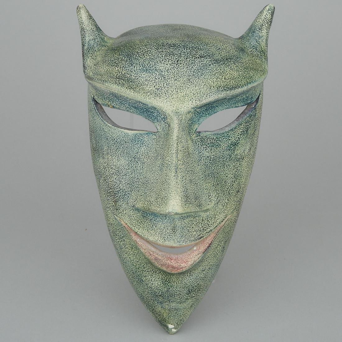 Brooklin Pottery Mask, Theo Harlander, c.1980