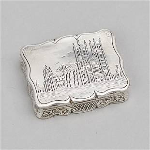 Victorian Silver Vinaigrette, Edward Smith, Birmingham,