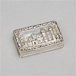 William IV Silver 'Abbotsford House' Castle-Top