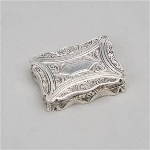Victorian Silver Vinaigrette, Alfred Taylor,