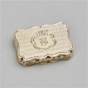 Victorian Silver-Gilt Vinaigrette, Cronin & Wheeler,