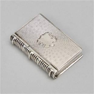 Victorian Silver Book-Form Vinaigrette, Nathaniel