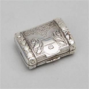 George III Silver Small Purse-Form Vinaigrette, Joseph