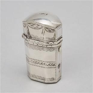 George III Silver Etui or Spice Box, Samuel Pemberton,