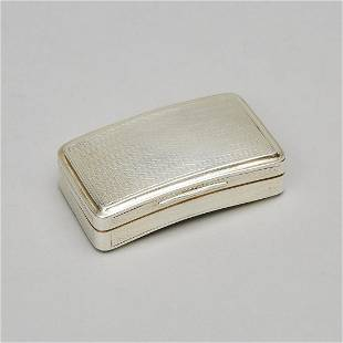 George III Silver Curved Rectangular Snuff Box, John