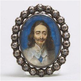 'Stuart Crystal' Charles I of England Diamond Mounted