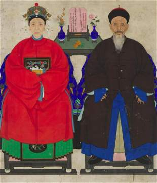 A Chinese Ancestor Portrait, Late Qing Dynasty