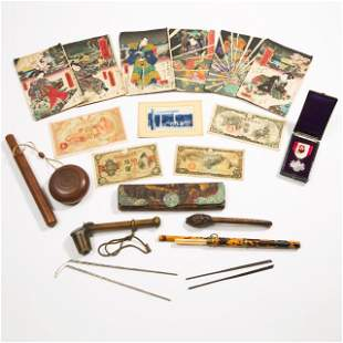 A Group of Three Japanese Pipes, Three Pairs of