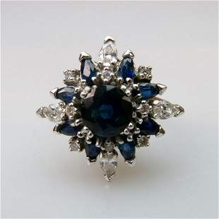 18k White Gold Cluster Ring, set with a full cut