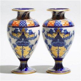 Pair of Macintyre Moorcroft Aurelian Vases,