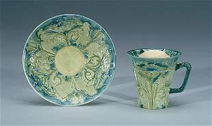 Moorcroft Macintyre Florian Cup & Saucer, c.1898